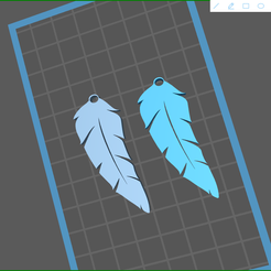 screenShot_05.png Download STL file feather earrings 05 • Object to 3D print, rebeccaljones