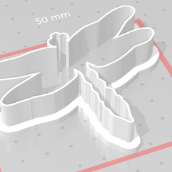 d1.png Download STL file cookie cutter dragonfly • 3D print object, satis3d