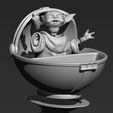 ZBrush ScreenGrab09.jpg Download STL file Baby Yoda  • 3D printable model, 3dbyalex