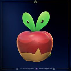 applin render cults3d.jpg Download free STL file Applin (pokemon) • 3D printer design, jscatalan