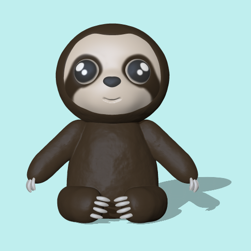 Sloth.PNG Download STL file Sloth • 3D printing model, usagipan3dstudios