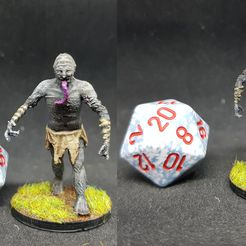 Ghoulies.jpg Download free STL file Ghoul for 28mm tabeltop roleplay • Design to 3D print, AJade
