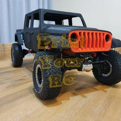 IThdfegyMiU.jpg Download STL file Jeep Gladiator 2020 rc body • Template to 3D print, PrintYourRC