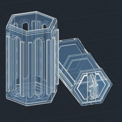 614beecec519a66bd1bbfb6d42153908_preview_featured.jpg Download free STL file Hexagonal Interlocking Storage Vessel • 3D printer template, DragonflyFabrication