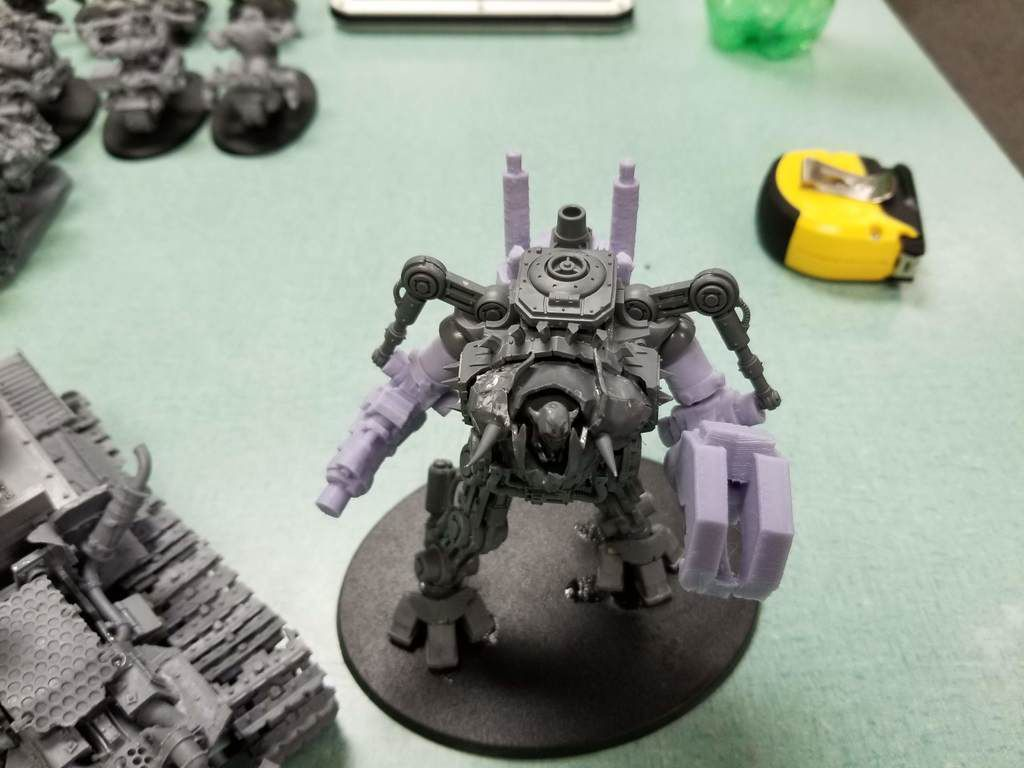 20180602_221955.jpg Download free STL file Ork Warlord or Ghaz using a Dreadknight • Template to 3D print, JtStrait72
