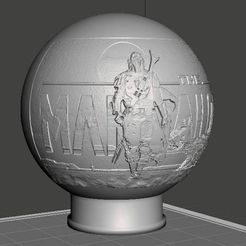 the mandalorian6.JPG Download free OBJ file The Mandalorian Litho Sphere • 3D printable object, pstark