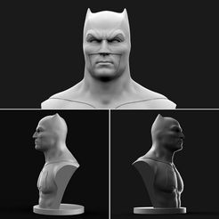 Ads8ız.jpg Download free OBJ file Batman Bust • 3D printer model, brkhy