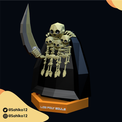 Nito-03.png Download STL file LOW POLY SOULS - THE GRAVELORD NITO • 3D printer design, Sahiko12