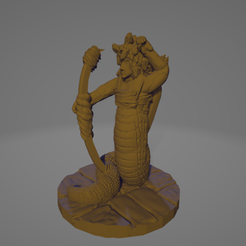 Gorgon Archer Pull.png Download STL file Support-Free Gorgon Archer Pulling Bow • 3D printable design, Ellie_Valkyrie