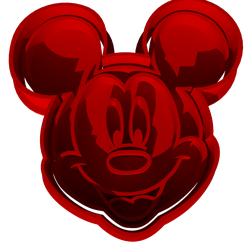 mickey.png Download OBJ file Mickey mouse, minnie mouse cookie cutter • 3D printer design, Maty_Spieler