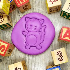 gatito.jpg Download free STL file CAT - COOKIE CUTTER FOR FARM ANIMALS. GATITO - SHORT FONDANT MASS AND CRAIL - 8cm • 3D printer object, Agos3D