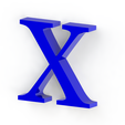 X3.png Download free STL file Letras / abecedario completo • Object to 3D print, Lubal