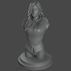 yennefer.png Download STL file YENNEFER WITCHER 3 BUST PRINT READY STL • 3D printing template, xox001