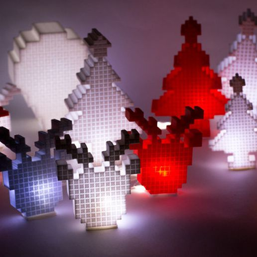 03.jpg Download STL file Merry Pixel Christmas!! • 3D printing model, Dayoung_Chung