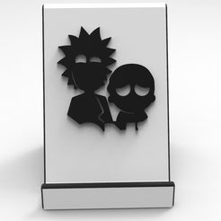 1.jpg Download free STL file Rick and Morty Support Phone • 3D printing design, BrunoLopes