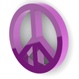 Sin título2.png Download free STL file Peace symbol • Object to 3D print, Lubal