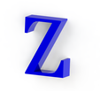 Z3.png Download free STL file Letras / abecedario completo • Object to 3D print, Lubal