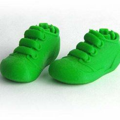 MAKIES_Trainers_Green.jpg Download free STL file Makies Sporty Trainers • 3D printable model, Makies