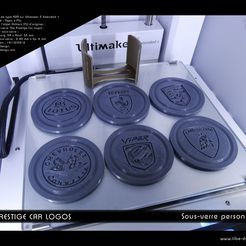 "sous-verre_logos_car_set01-1.jpg Download free STL file Coaster ""The Prestige Car Logos"" • 3D print object, Tibe-Design"