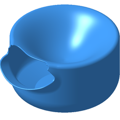 2.PNG Download free STL file Bowl for roasted seeds • 3D printing model, AlexHD