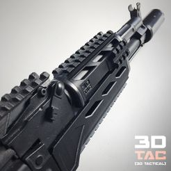 3DTAC_Covers_AKMP_5.jpg Download STL file 3DTAC / AK Complete Modular Package (Airsoft only) • 3D printable object, 3DMX