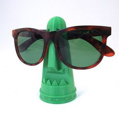 fe7fdfedac2a6cf54c9ac255c1e7b701_display_large.jpg Download free STL file Tiki Sunglass Holder • Object to 3D print, TikiLuke
