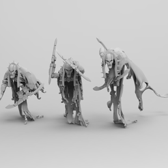 Flayed Ones Blade-Arm Pose.PNG Download STL file Space Zombies Skinny Wraiths • 3D printer template, Star_Pharaoh_Foundry