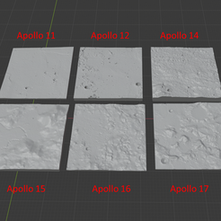 ALS.png Download free STL file Apollo Landing Sites Collection • 3D printer object, RTicknor