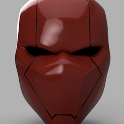 red Hood Helmet v4.png Download STL file Red Hood Helmet Batman Version 2 • 3D printer template, VillainousPropShop