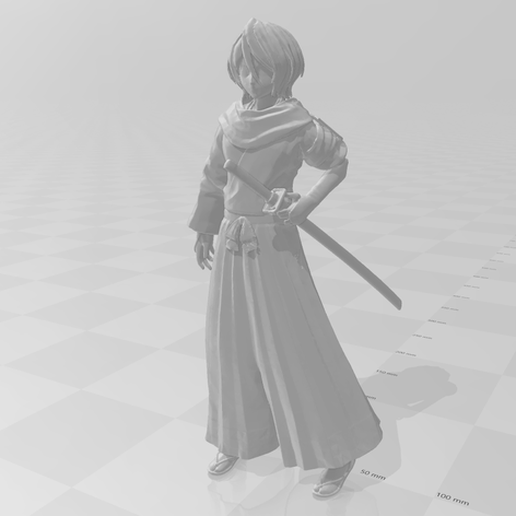 featured_preview_2019-09-13.png Download free STL file Rukia Kuchiki from Bleach • 3D printing design, Adonfff