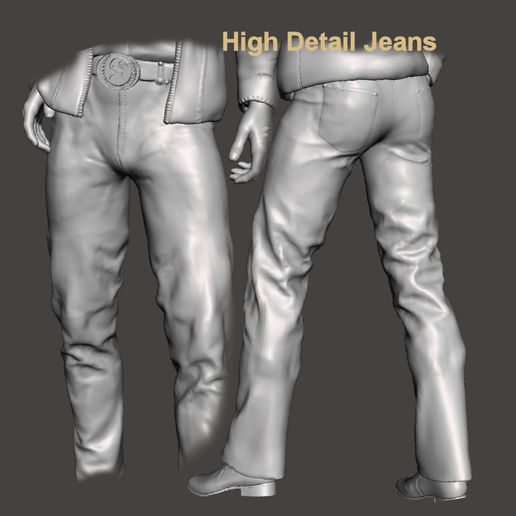 09 jeans torso.jpg Download STL file Knight Rider – Young Hoff - by SPARX • 3D printable design, SparxBM