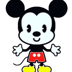 Badge_cute_mickey_mouse.png Download free STL file Insignia lindo ratón Mickey • 3D printing object, jpgillot2