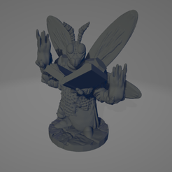 Insectoid Mage.png Télécharger fichier STL Mage Insectoïde • Plan imprimable en 3D, Ellie_Valkyrie