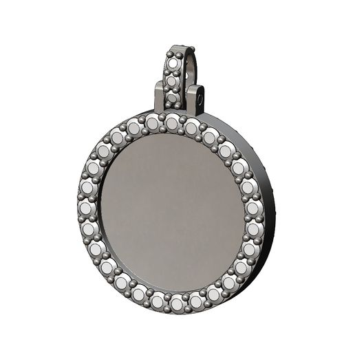 Double-side-Diamond-Picture-Pendant-Round25mm-09.jpg Download 3MF file Double side diamond memory picture pendant 3D print model • 3D printing template, RachidSW