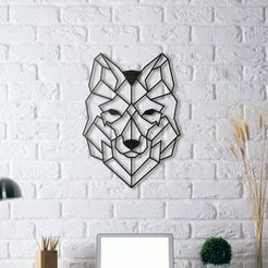 4cb299abb66b69fa2a3e438b3b5f053f_display_large.jpg Download free STL file Wolf Wall Sculpture 2D • Design to 3D print, UnpredictableLab