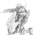 9.jpg Download STL file REBEL AT-RT WALKER, LEGION SCALE, STAR WARS, RPG, UNPAINTED, ROLE PLAYING, D&D • Template to 3D print, LANARDARNA