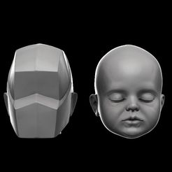 baby0.jpg Download OBJ file Planes of the baby head • Design to 3D print, h3ydari96