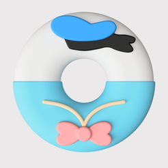 disney_2021-May-15_10-33-50PM-000_CustomizedView20055615325.png Télécharger fichier STL Shanghai Disneyland - Donut Donald Duck • Objet imprimable en 3D, Gaker