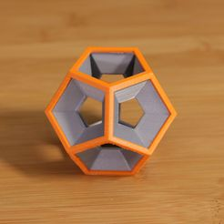 Dodecahedron-dual.jpg Download free STL file Dodecahedron • 3D printer object, Adafruit