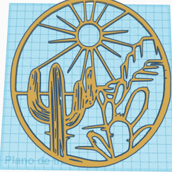 Captura.png Download STL file 2d painting desert with cactus • 3D printable object, Fusions3D