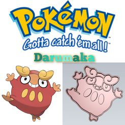 WhatsApp-Image-2021-07-27-at-10.23.25-PM.jpeg Download STL file AMAZING POKEMON darumaka COOKIE CUTTER STAMP CAKE DECORATING • Object to 3D print, Micce