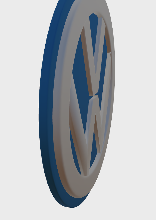 VW3.png Download STL file VW Badge • Object to 3D print, SimonTGriffiths