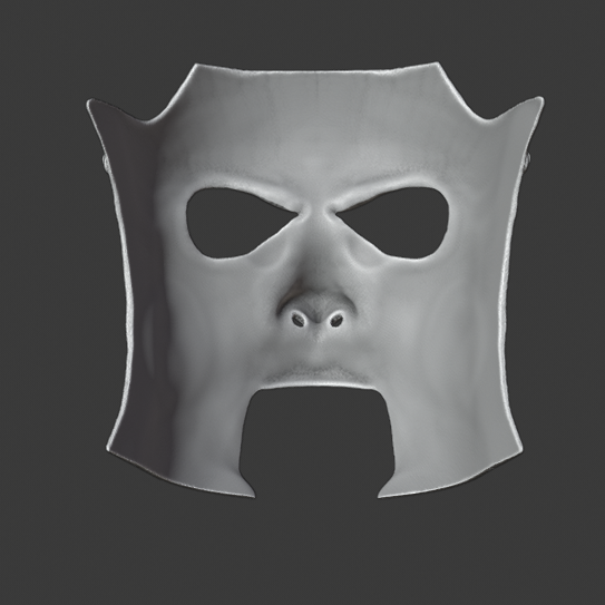 Mask 3.png Download STL file Jim Roots 'We Are Not Your Kind' mask  • Object to 3D print, DFB93