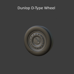 New-Project-2021-06-21T154059.070.png Download STL file Dunlop D-Type Wheel • 3D print template, ditomaso147