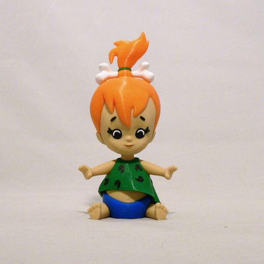 pebbles front1.jpg Download free STL file Pebbles Flintstone • 3D print object, reddadsteve