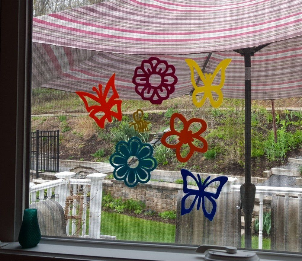 stickers_3.jpg Download free STL file Spring Flower, Butterfly and Bee Decals • 3D printing design, barb_3dprintny