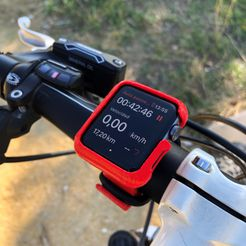 Mountain.jpg Download STL file AppleWatch 3 Series Bicycle Case 42mm (Odometer) • Template to 3D print, mibro