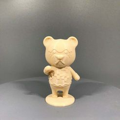 Nate.jpg Download free STL file Nate from Animal Crossing • 3D printable object, TroySlatton