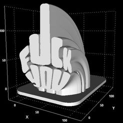 cultsfuckyoustand.jpg Download STL file The finger sign • 3D printer model, Stevejawel
