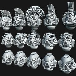 cults.jpg Download STL file Angry Marine Helmets • 3D printable model, Red-warden-miniatures